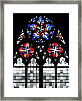 Mainz Cathedral Window Framed Print by Sarah Loft