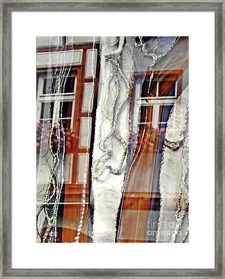 Mainz Shop Window Reflection    Framed Print