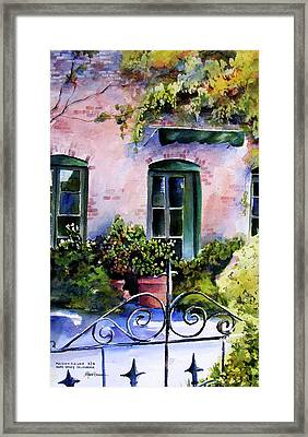 Framed Print featuring the painting Maison Fleurie by Marti Green