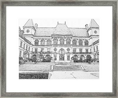 Maison Internationale Paris Framed Print by Subesh Gupta