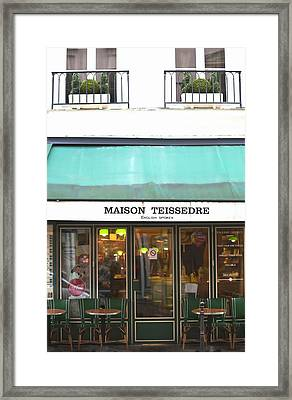 Maison Teissedre Cafe Framed Print by Art Block Collections
