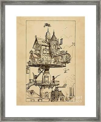 Maison Tournante Aerienne Framed Print