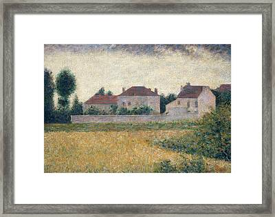 Maisons Blanches  Framed Print by Georges Pierre Seurat