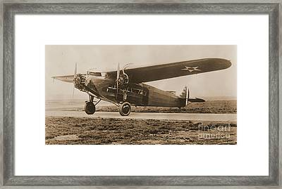 Maitlands Fokker Tri Motor Airplane Framed Print