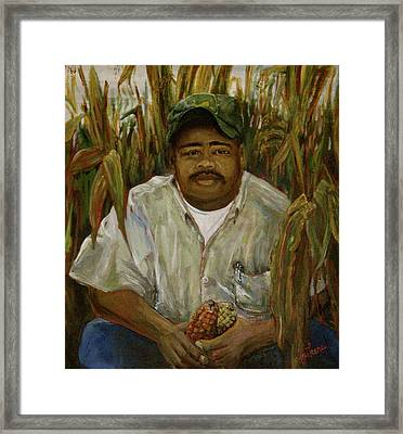 Maize Farmer Framed Print by Linnie Aikens