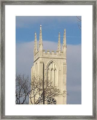 Majectic Steeple Framed Print by Martha Hoskins