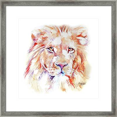 Majestic African Lion Framed Print by Stephie Butler