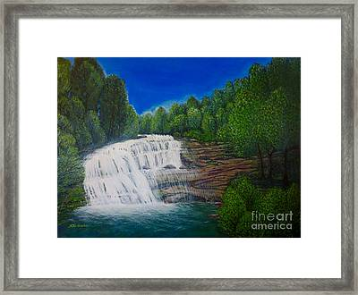Majestic Bald River Falls Of Appalachia II Framed Print