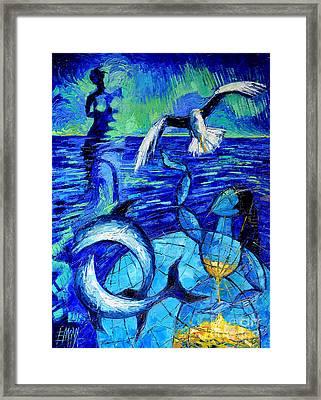Majestic Bleu Framed Print by Mona Edulesco