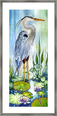 Majestic Blue Heron Framed Print