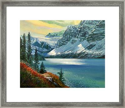 Majestic Bow River Framed Print by David Lloyd Glover