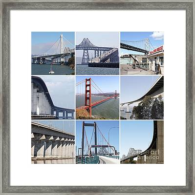 Majestic Bridges Of The San Francisco Bay Area 20150102 Framed Print