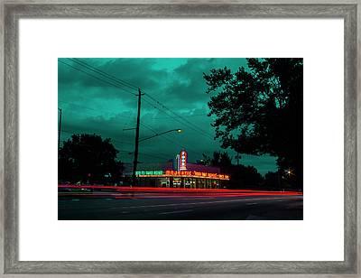 Majestic Cafe Framed Print