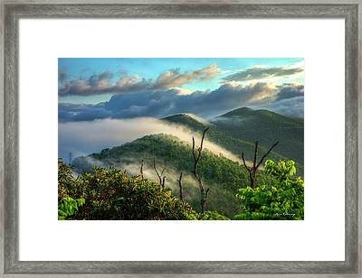Majestic Clouds Blue Ridge Parkway Smoky Mountains Art Framed Print