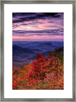 Majestic Colors Looking Glass Rock Sunrise Art Framed Print by Reid Callaway