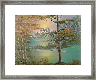 Majestic Cove Framed Print by Mikki Alhart