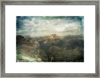 Majestic Dolomites Framed Print