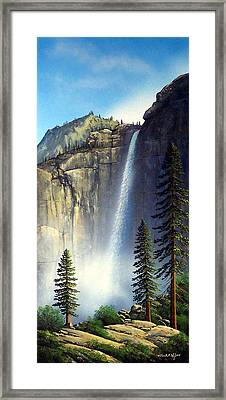 Majestic Falls Framed Print by Frank Wilson