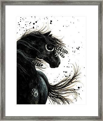 Majestic Friesian Spirit Horse Framed Print by AmyLyn Bihrle