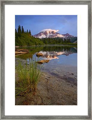 Majestic Glow Framed Print by Mike  Dawson