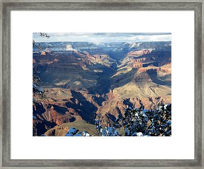 Framed Print featuring the photograph Majestic Grand Canyon by Laurel Powell