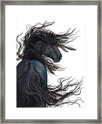 Majestic Horse Friesian 135 Framed Print