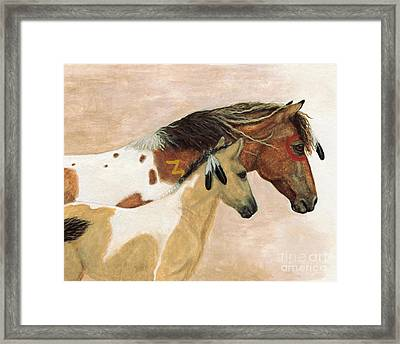 Majestic Horses Mare Foal Framed Print
