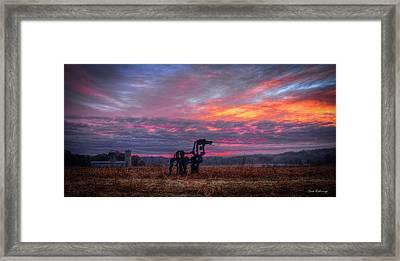 Majestic Iron Horse Sunrise Art Framed Print by Reid Callaway