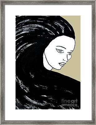 Majestic Lady J0715e Lemon Grass Green Pastel Painting 12-0626 Dcd494 C8c199 Framed Print