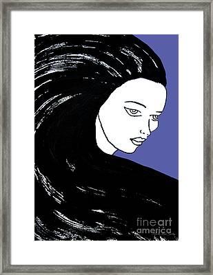 Majestic Lady J0715f J0715f Marina Blue Pastel Painting 17-4041 4f84c4 585fa8 Framed Print