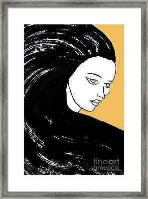 Majestic Lady Mimosa Yellow Pastel Painting 14-0848 F0b59 Framed Print