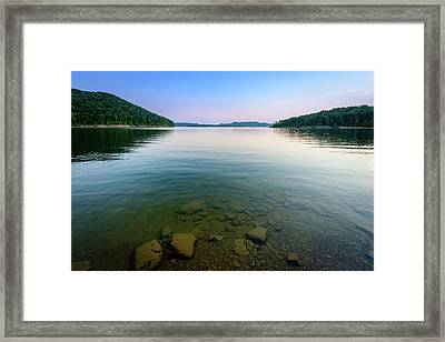Majestic Lake Framed Print