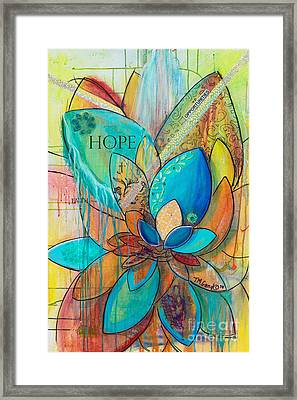 Spirit Lotus With Hope Framed Print