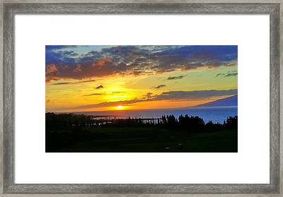 Majestic Maui Sunset Framed Print