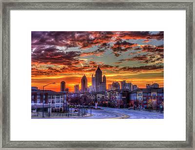 Majestic Midtown Sunrise Atlantic Station Art Framed Print