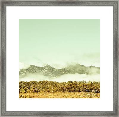 Majestic Misty Mountains Framed Print