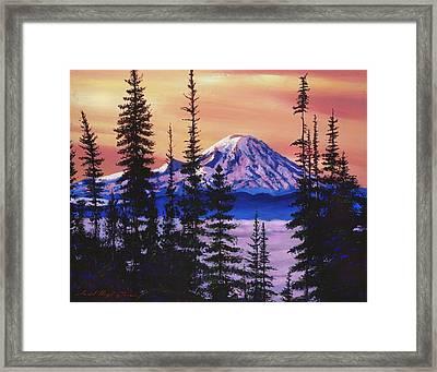 Majestic Mount Baker Framed Print