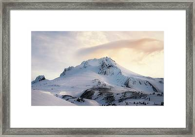 Framed Print featuring the photograph Majestic Mt. Hood by Ryan Manuel