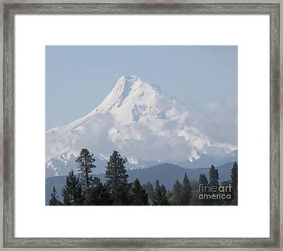 Majestic Mt Hood Framed Print