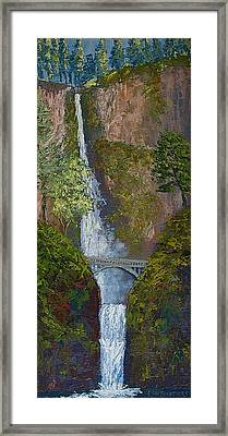 Majestic Multnomah Framed Print by Ron Smothers