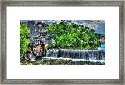 Majestic Old Mill Pigeon Forge Mill Great Smoky Mountains Art Framed Print by Reid Callaway
