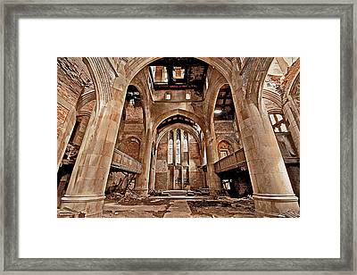 Framed Print featuring the photograph Majestic Ruins by Suzanne Stout
