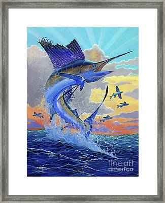 Majestic Sail Framed Print by Carey Chen