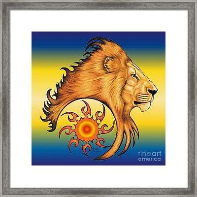 Majestic Soul Framed Print by Sheryl Unwin