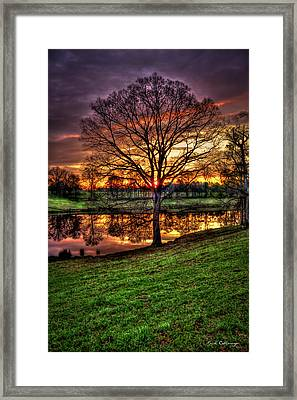 Framed Print featuring the photograph Majestic Sunrise Reflections by Reid Callaway