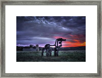 Majestic Sunrise The Iron Horse Framed Print by Reid Callaway