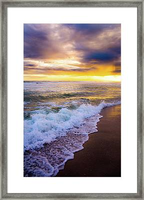 Majestic Sunset In Paradise Framed Print by Shelby Young