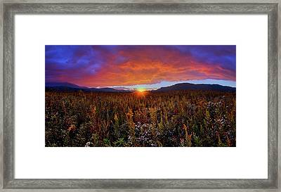 Majestic Sunset Over Cades Cove In Smoky Mountains National Park Framed Print