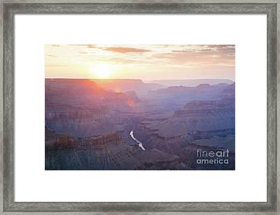 Majestic Sunset Over Grand Canyon, Arizona, Usa Framed Print by Matteo Colombo