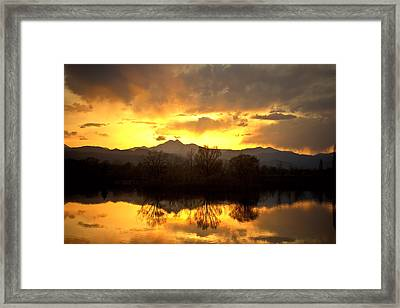 Majestic Sunset Reflections Framed Print by James BO  Insogna